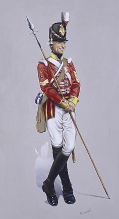 Colour Sergent from 37th with spontoon circa 1812