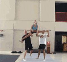 13 Mighty Spirited Cheer Stunts