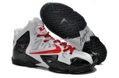 buy popular 015c8 e3bdf Nike LeBron 11 White Black Red Shoes are cheap sale on our store. The  classic lebron 11 shoes will be your best choice.