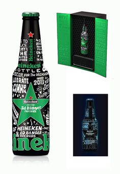 Heineken X Ed Banger Records Glow In The Dark Bottle by So Me.