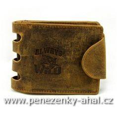 Kožená peněženka pánská s přezkou