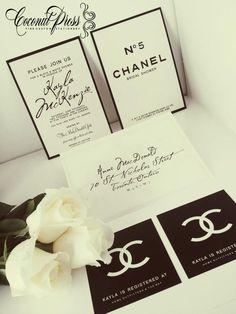 Coconut Press Chanel Invitation Suite