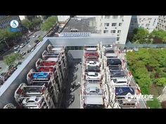 24 units Smart Rotary Car Parking System project for 276 car spaces - YouTube