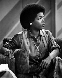 Oprah Winfrey, 1978, the year she and Richard Sher started doing People are Talking on WJZ.