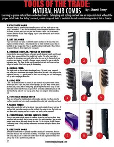 Natura Magazine Jan 2014 - Not sure which combs are best for your hair type and styling? Check out this post for a comb guide featured in thelatest issue of Natura Magazine - Natural Hair Types, Natural Hair Care Tips, Natural Hair Journey, Natural Styles, Natural Hair Regimen, Natural Oils, Natural Beauty, My Hairstyle, Cool Hairstyles