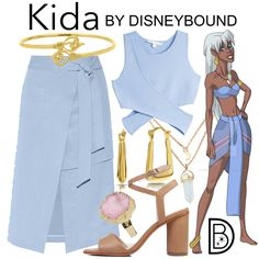Welcome to the OFFICIAL website! DisneyBound is meant to be inspiration for you to pull together your own outfits which work for your body and wallet whether from your closet or local mall. As to Disney artwork/properties: ©Disney Disney Character Outfits, Disney Themed Outfits, Disney Bound Outfits, Disney Dresses, Disney Clothes, Disney Characters, Kida Disney, Disney Princess, Disney Parks