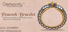 Purchase Breathtaking Peacock Bracelet From Gemvanity