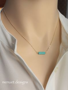 Turquoise Bar Necklace- I like this one a lot!