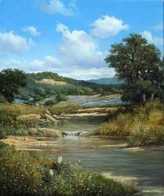 "George Kovach, ""Spring Creek Draw"" 40x30 inches, Oil on Canvas. $13,500 - Southwest Gallery: Not Just Southwest Art."