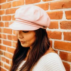 New Release - Caps & Felts *Use your points before they expire Blossom Leather Cap - Pink / SM #ahm #americanhatmakers #leathercaps #caps