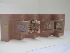 Pivoting Panels Book Another Hedi Kyle structure by Wendy Kennedy. Concertina Book, Accordion Book, Up Book, Book Art, Book Journal, Journals, Book Sculpture, Mini Scrapbook Albums, Book Projects