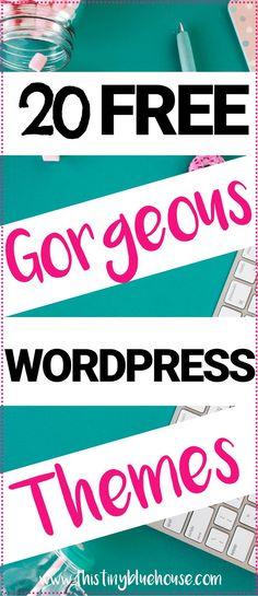 20 Gorgeous FREE wordpress themes that are guaranteed to make your content shine #wordpress #freewordpressthemes #freethemes #freeblogthemes #blogthemes