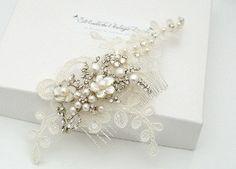 Grace bridal lace comb