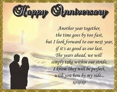 Looking forward to the years ahead? Then this anniversary card for the one you love may be perfect! Free online Another Year Together ecards on Anniversary Anniversary Wishes For Parents, Happy Anniversary My Love, Wishes For Brother, Anniversary Cards, Lucky To Have You, Told You So, Happy Song, Love You Baby, Joy And Happiness