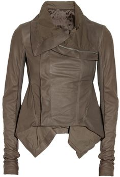 Rick Owens Naska leather biker jacket