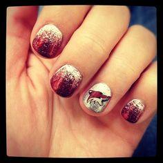 Phoenix Coyotes nails! gel nails