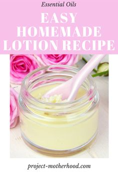 This easy DIY lotion recipe will have you ditching store bought stuff asap! #lotionrecipe #diy