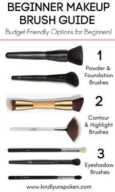Check out my beginner makeup brush guide with a beginner's guide to makeup brush. - Check out my beginner makeup brush guide with a beginner's guide to makeup brushes different type - Affordable Makeup Brushes, Best Makeup Brushes, Eyeshadow Brushes, Best Makeup Products, Beauty Products, Best Brushes For Contouring, Makeup Brush Guide, Makeup 101, Makeup Hacks