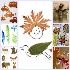 Manualidades infantiles con hojas de árbol para divertirse en otoño. Os enseñamos 7 manualidades con hojas para niños, ideales para los días de lluvia.