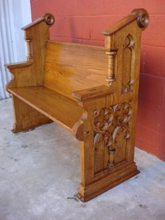 antique english gothic church pewthis would be a really awesome piece - Church Pews For Sale