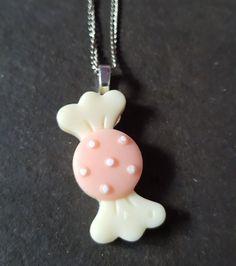 Sweet Treats Resin Pendant Necklace - Peaches & Cream