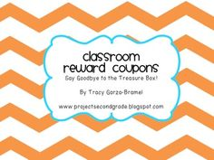 Use these classroom reward coupons to reward your students. These coupons are all free to you, the teacher. Say farewell to the treasure box! Coupons include- Teacher's Chair, Recess with a Friend in Another Class, Sock Day, Chew Gum, and Punch Card helper.