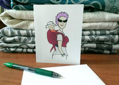 Funky Mama Babywearing Card by Bird Doodle on Etsy