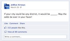 JetBlue Averages 182% More Comments with Fill In the Blank on Facebook