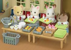 Calico critters and Sylvanian families display