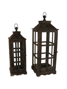 Wooden Glass Lantern - Black New Inventory, Bookends, Lanterns, Gazebo, Outdoor Structures, Glass, Home Decor, Homemade Home Decor, Kiosk