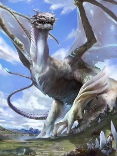 """Dragon – fantasy concept by jiang fan "" Plus Magical Creatures, Fantasy Creatures, Dragon Artwork, Cool Dragons, Dragon Pictures, Creature Concept, Mythological Creatures, Fantasy Artwork, Creature Design"