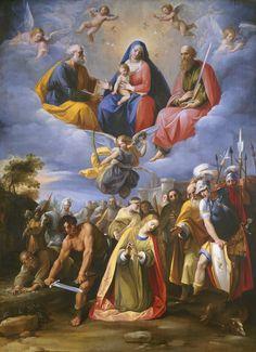 "maertyrer: "" Giuseppe Cesari, called Cavaliere d'Arpino Martyrdom of St. Margaret c. 1608-11 """
