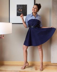 Golmaal Again: Parineeti Chopra's promotional style is a healthy mix of desi and casual chic Denim Fashion, Star Fashion, Fashion Outfits, Female Fashion, Bollywood Celebrities, Bollywood Actress, Celebrity Outfits, Celebrity Style, Parneeti Chopra