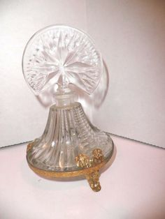 Avon Collectible Perfume Bottles 1960s | Glass Perfume Bottle in Metal Stand Art Deco in Collectibles, Bottles ...