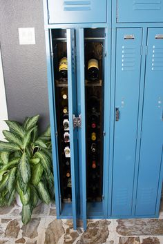 Gym Locker Turned Wine Locker!