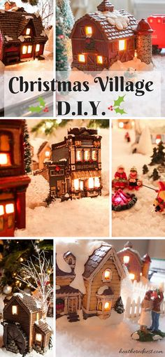 Did you know your could DIY your own ceramic Christmas Village, Department 56 style, for a fraction of the price? It takes some work, but it will be a treasured part of your Christmas traditions for a lifetime All Things Christmas, Christmas Home, Christmas Holidays, Christmas Crafts, Christmas Decorations, Xmas, Christmas Ornaments, Holiday Decor, Christmas Vacation