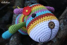 PATTERN  Stripy sock puppy  crochet pattern amigurumi by lilleliis