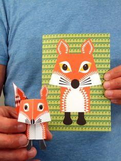 3d vos vouwen origami diy kaart Mibo
