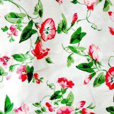 Vintage Cotton Fabric Morning Glory Polished by nanascottagehouse, $36.00