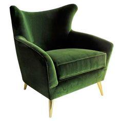 Afbeeldingsresultaat voor fauteuil cube in green velvet