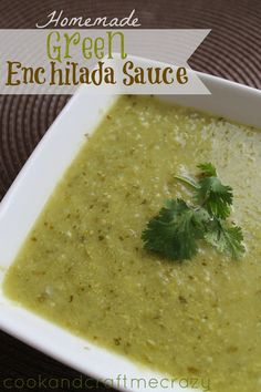 Cook and Craft Me Crazy: Homemade Green Enchilada Sauce, YUM! Recipes With Enchilada Sauce, Green Enchilada Sauce, Homemade Enchilada Sauce, Homemade Sauce, Sauce Recipes, Cooking Recipes, Green Chili Sauce, Copycat Recipes, Cooking Ideas