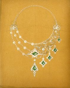 René Lalique, Dessin assymétrique, émeraudes (c) Lalique SA (Pressematerial zur Museumseröffnung)