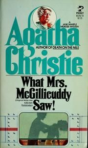 What Mrs. McGillicudy Saw by Agatha Christie: Book Review What Mrs. McGillicudy Saw is also called '4:50 from Paddington'. The whole thing starts when Mrs. McGillicudy, all agog with her Christmas shopping, witnesses a man strangle a woman in another train that is passing by.  #mystery #AgathaChristie #MissMarple