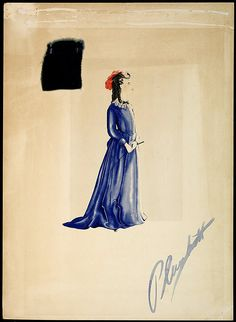 Costume design by Walter Plunkett for the character Bonnie Blue Butler in Gone With the Wind (1939)