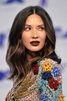 Exactly What to Tell Your Stylist to Get the Perfect Hair Color Hair Color Terms You Should Know For Perfect Hair Color, Cool Hair Color, Hair Colors, Olivia Munn, Hailey Baldwin, Pretty Hairstyles, Updo Hairstyle, Bride Hairstyles, Hairstyle Ideas