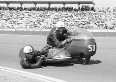 Vintage sidecar racing