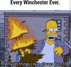 Simpsons X Supernatural