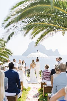 Photography: Ana Lui Photography - analuiphotography.com/ Read More: http://www.stylemepretty.com/destination-weddings/2015/05/04/bohemian-beach-wedding-in-ibiza/ ES VESDRA Anam Cara private villa Ibiza