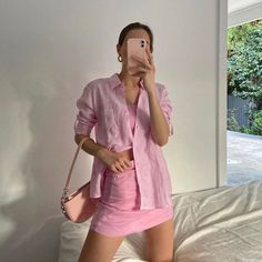Pink Outfits, Colourful Outfits, Mode Outfits, Trendy Outfits, Summer Outfits, Fashion Outfits, Fashion Tips, Fashion Hacks, Pastel Outfit