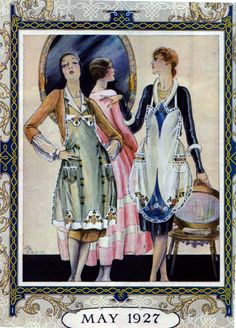 Apron styles, ready made for embroidery, 1927